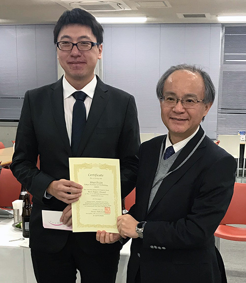 Liu won the Jc-IFToMM Young Investigator Finalist